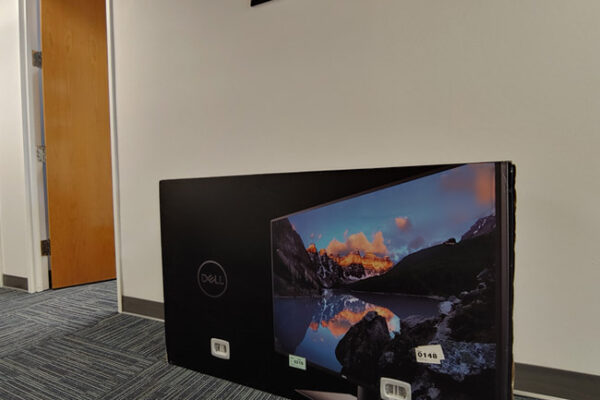 Dell Monitor on Floor for Scale